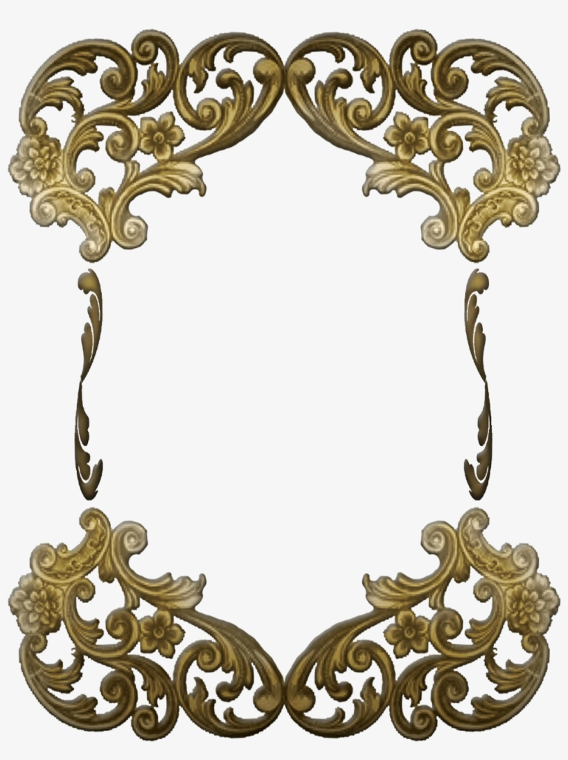 Free Ornate Victorian Frame Gold Victorian Frame Png Png Image Transparent Png Free Download On Seekpng