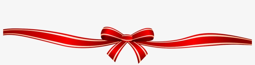 Red Ribbon Border Png Download - Happy Birthday Bow Png ...