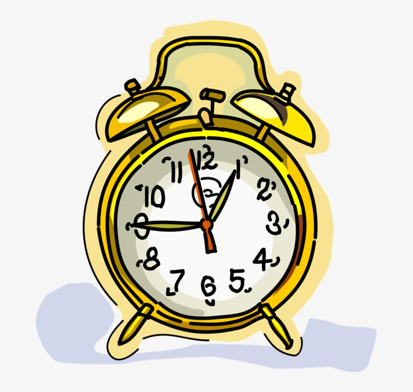 Vector Illustration Of Alarm Clock Ringing Its Morning School Time Out Card Png Image Transparent Png Free Download On Seekpng