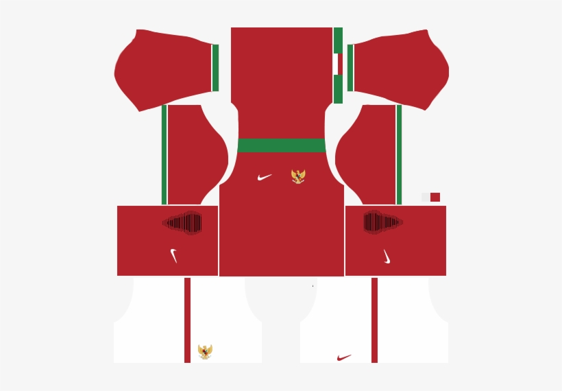 Indonesia Home Kits Dls - Kits Dream League Soccer 2018 Brasil PNG
