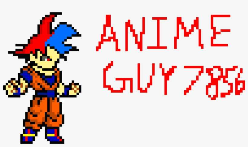My New Channel Art Pixel Art Dragon Ball Png Image