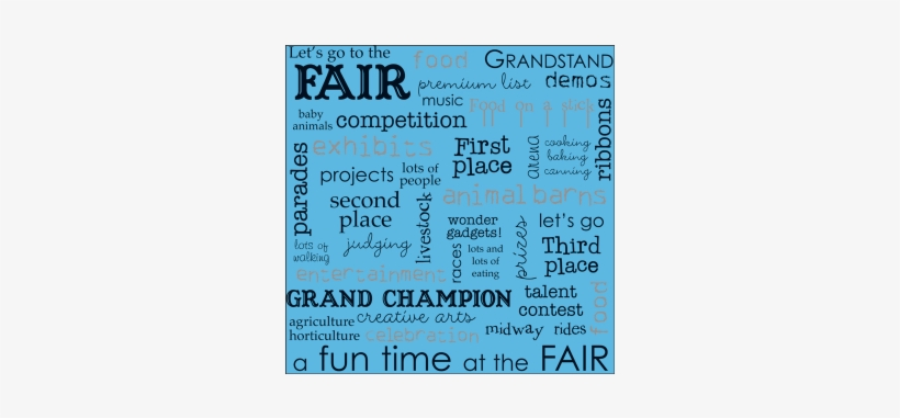 Fair Words Scrapbook Paper-ls240 - State Fair Scrapbook Paper PNG