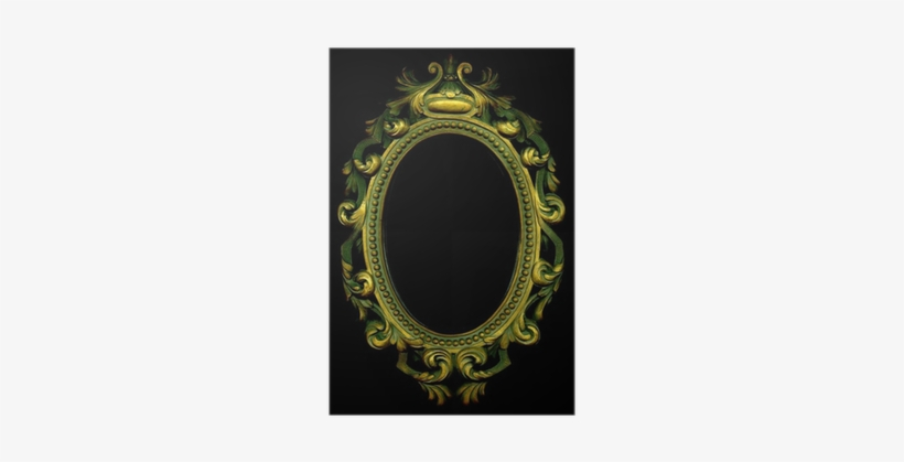 An Ornate Grungy Gold Mirror On A Black Background Mirror With Black Background Png Image Transparent Png Free Download On Seekpng