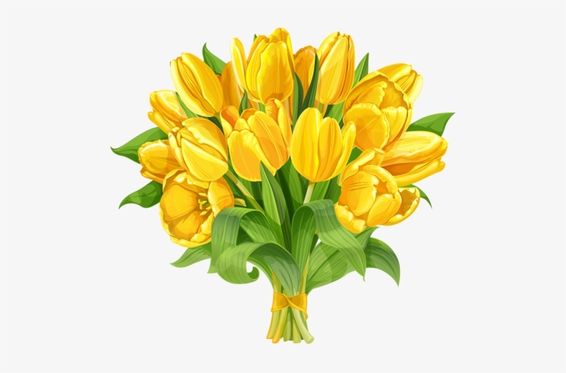 Tulip Clipart Flower Clipart Yellow Flowers Art