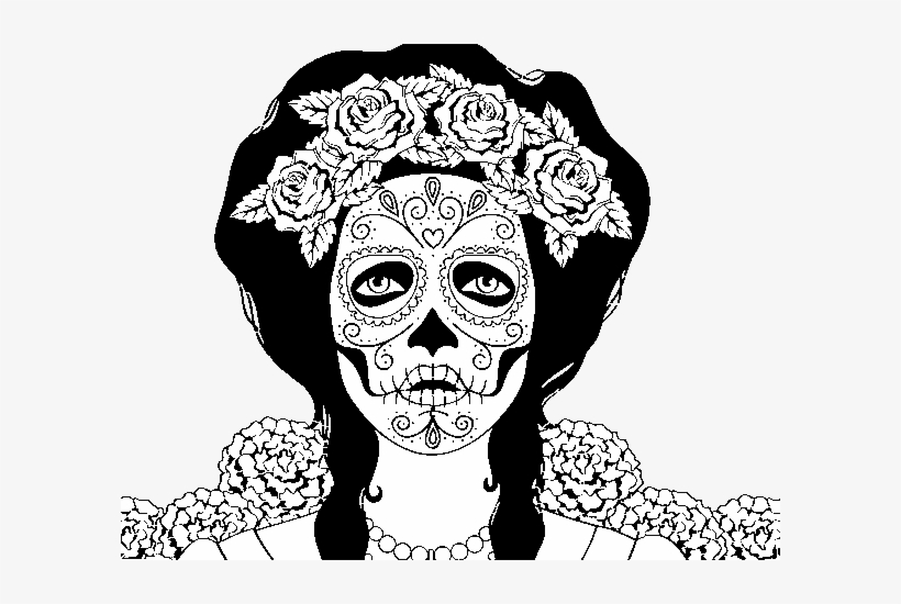 Sugar Skull coloring page | Free Printable Coloring Pages | 550x820