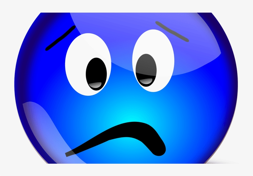 Blue Smiley Face For Free Download On Mbtskoudsalg Sad Emoji Blue