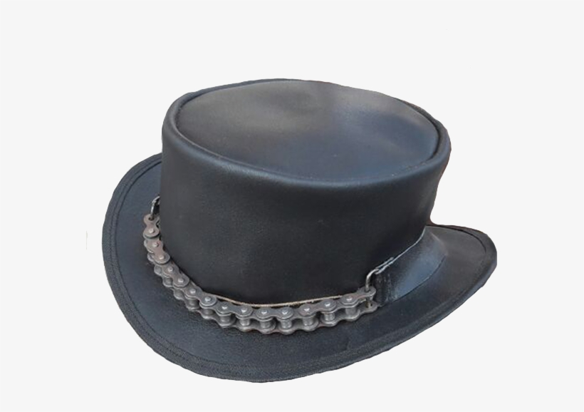 d40e6a9f62a07 Steampunk Chain Driven Leather Top Hat PNG Image