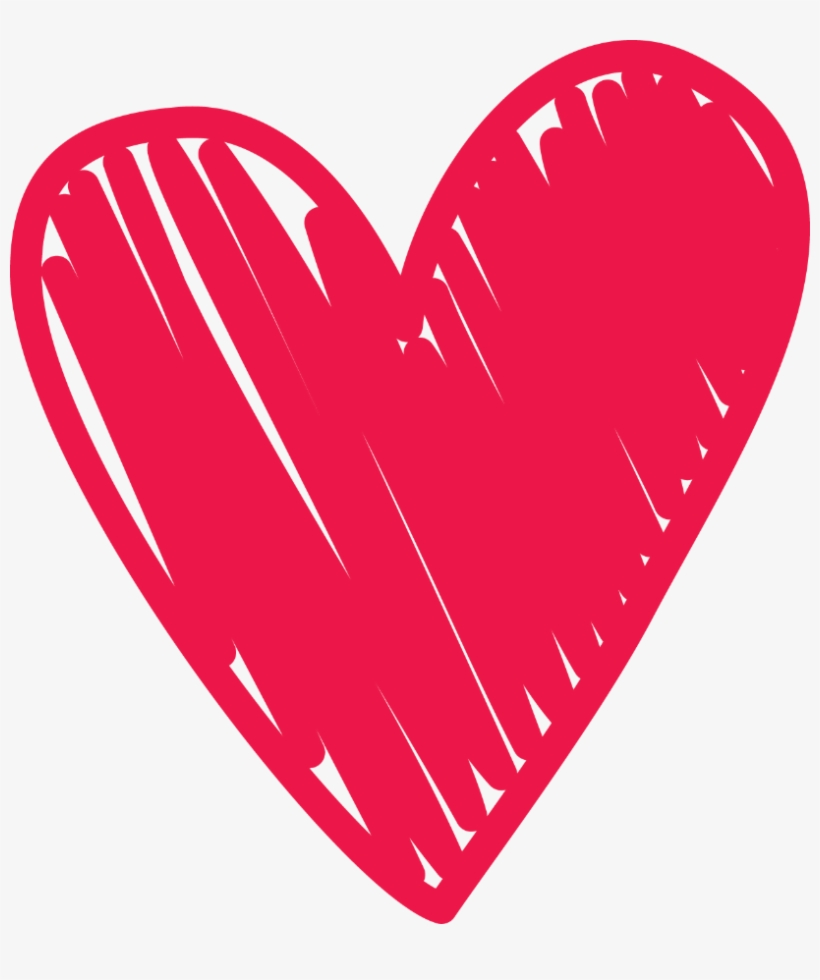 Royalty Free Stock Doodle Clipart Love Heart - Scribble Heart