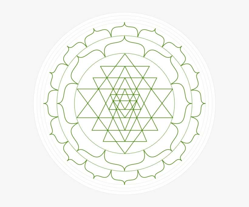Sri Yantra Black And White PNG Image | Transparent PNG Free