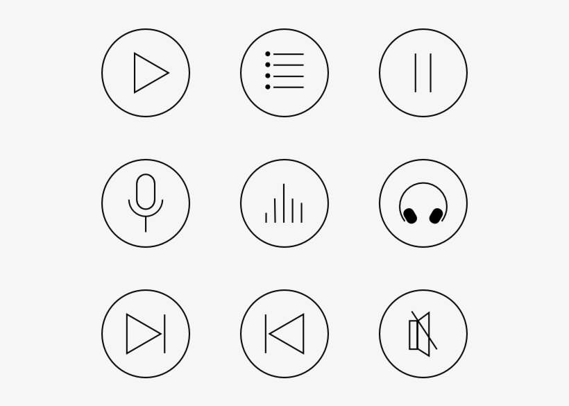 Music Icons - Music Player Icons Free@seekpng.com