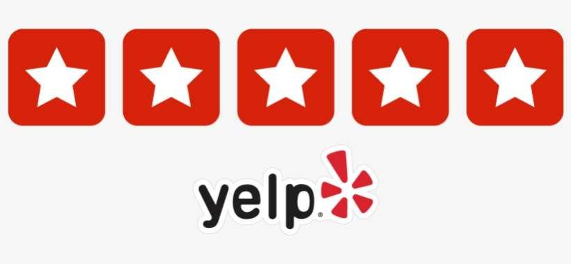 Yelp Logo 5 Stars@seekpng.com