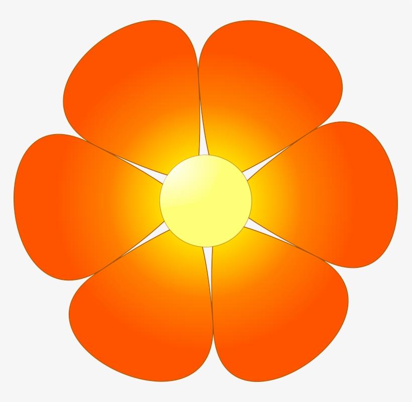 Orange Flower Clipart Summer Flower Free Clipart On ...