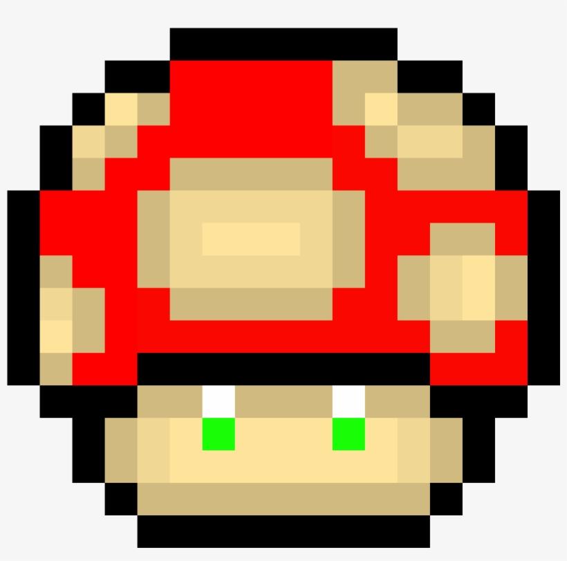 super mario mushroom pixel art