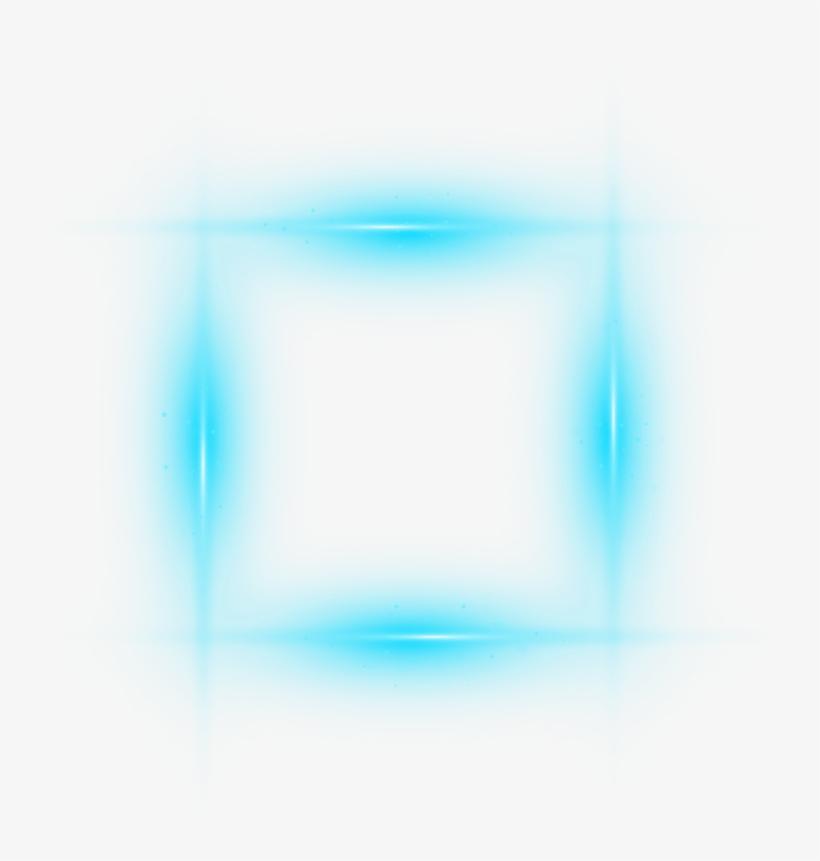 Ftestickers Frame Box Borders Light Glow Blue - Picsart Photo Studio