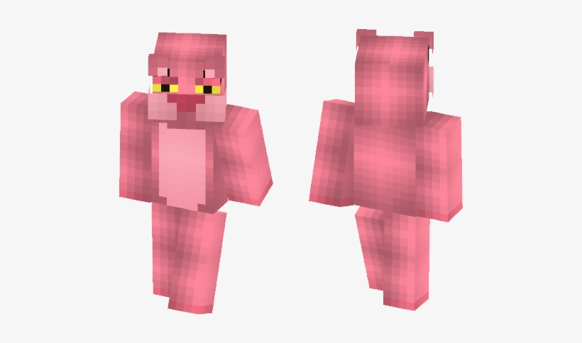 Pink Panther My Reshade Black Suit Spiderman Minecraft Skin Png