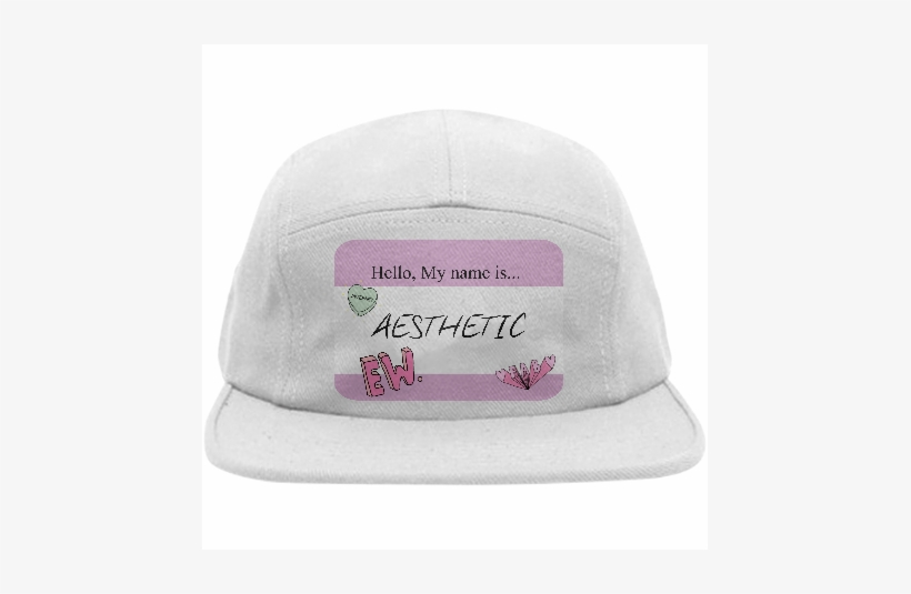 Hello My Name Is Aesthetic Name Tag Print Hat 48 Aesthetic Hat Png Image Transparent Png Free Download On Seekpng
