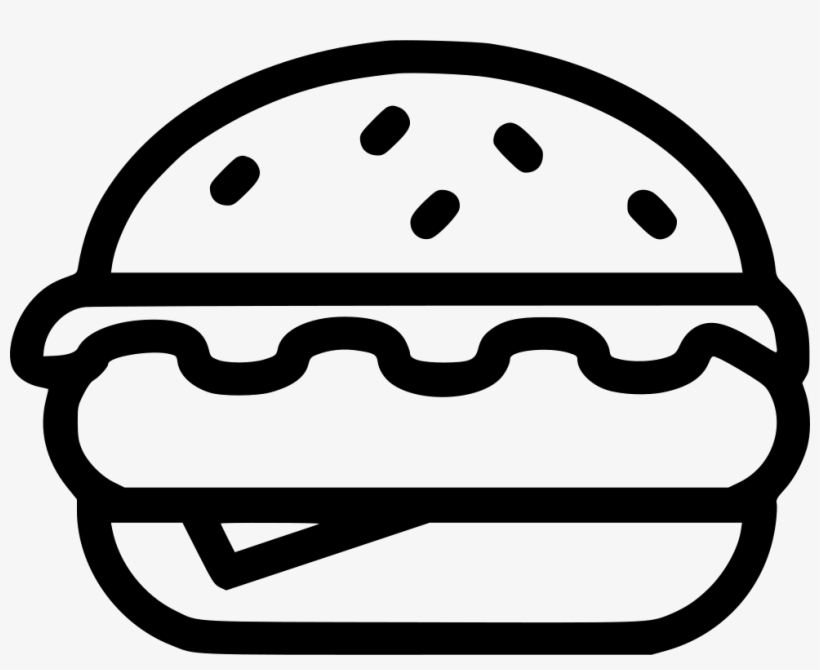 0eb403b298 Hamburger Comments - Hamburguesa Vector Blanco Y Negro PNG Image ...
