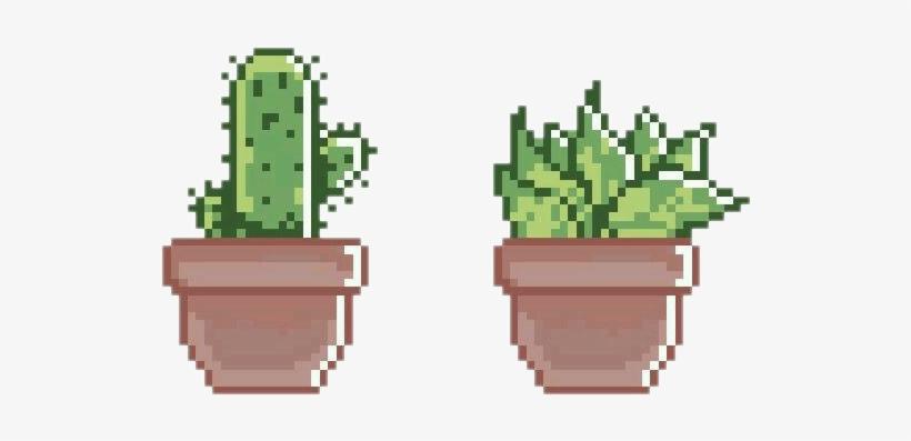 Plant Green Succulent Aesthetic Pixel - Pixel Plants PNG