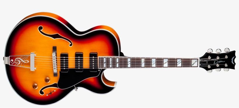 Dean Guitars Image Dean Palomino Hollowbody Guitar Vintage Sunburst Png Image Transparent Png Free Download On Seekpng