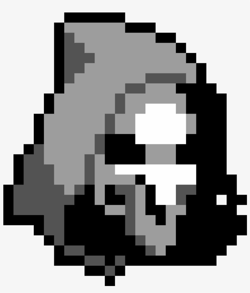 Reaper Pixel Art Minecraft Skin Fortnite Png Image