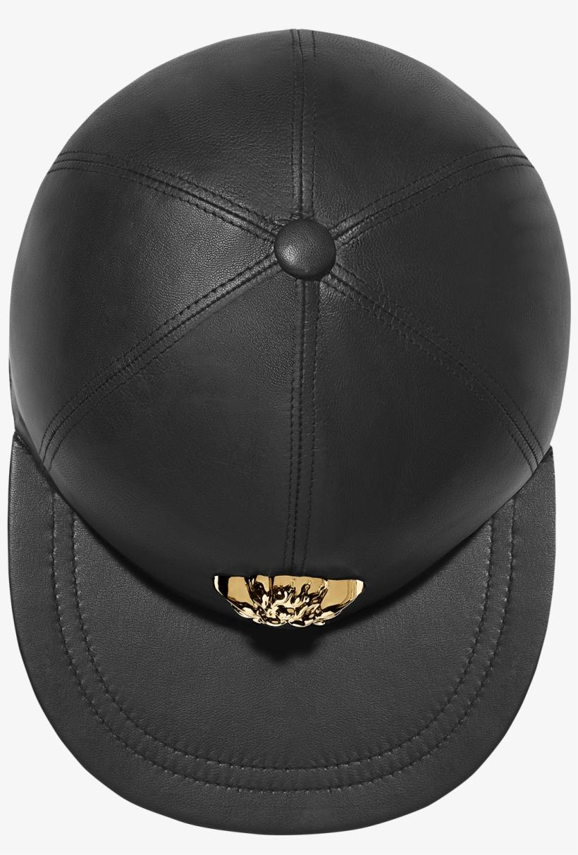 Medusa Leather Cap - Versace Medusa Leather Cap - Black PNG Image ... bf4add779dc