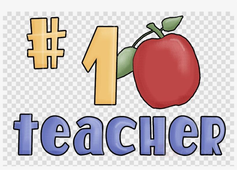 1 Teacher Apple Clipart Teacher Clip Art Number One Teacher Wall Clock Png Image Transparent Png Free Download On Seekpng