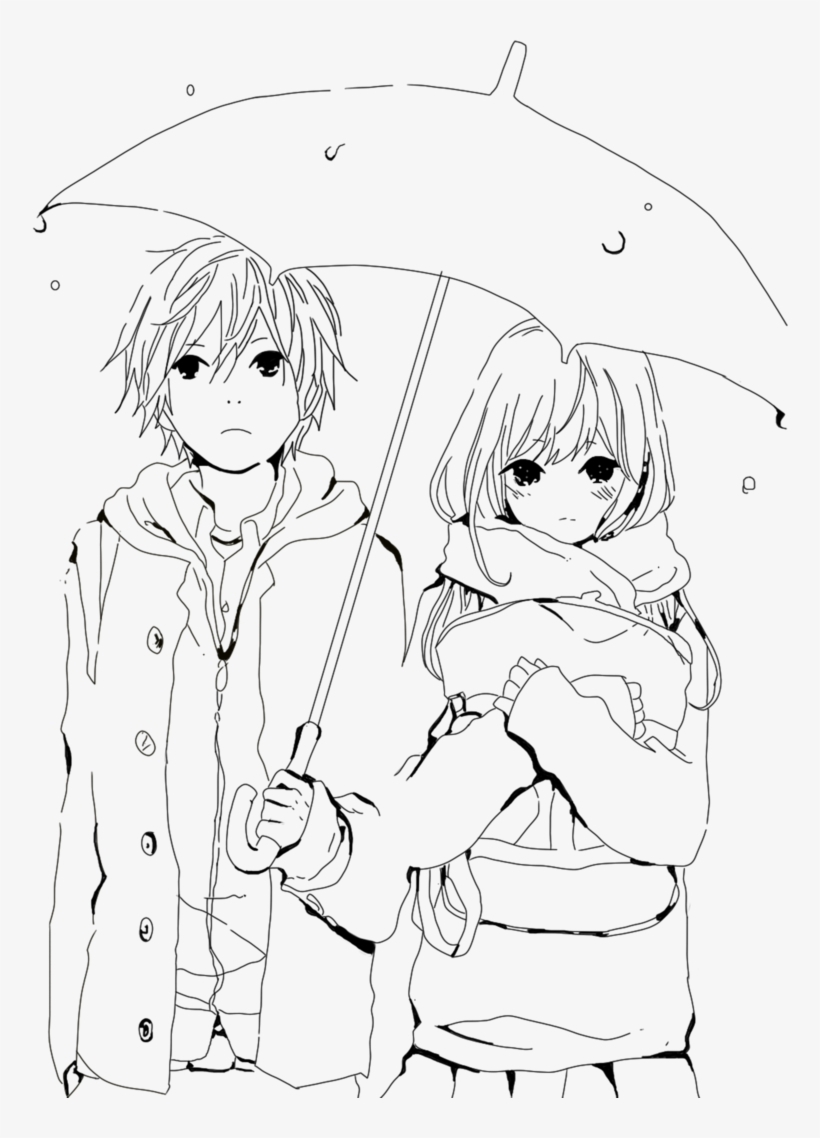 Picture library library artistic drawing boy cute anime couples coloring pages