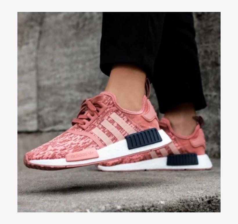 Adidas Nmd R1 Womens Black Glitch Raw Pink Shoes Nmd R1 Pink Raw