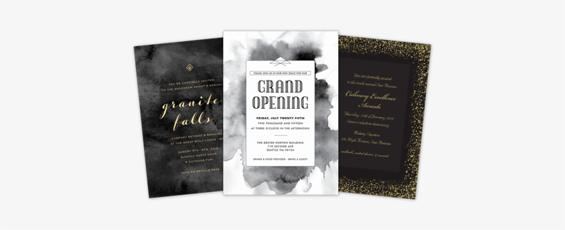 Business Invitations Cafe Opening Invitation Card Png Image