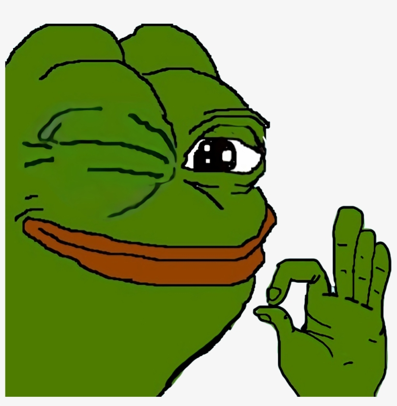 Poggers Emote - Pepe The Frog Ok PNG Image | Transparent PNG Free