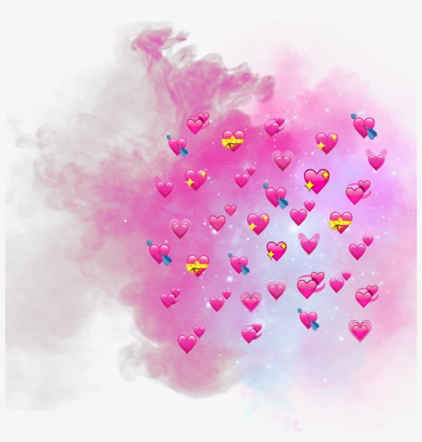 Heart Emoji Smoke Cool Emojis Pink Nice Sticker - Hearts Emoji