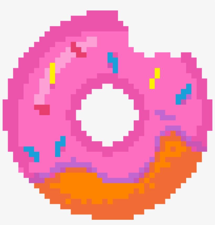 Donut Donuts Bit Sticker Cute Tumblr Strawberry Meises - Deadpool Logo Pixel Art, transparent png
