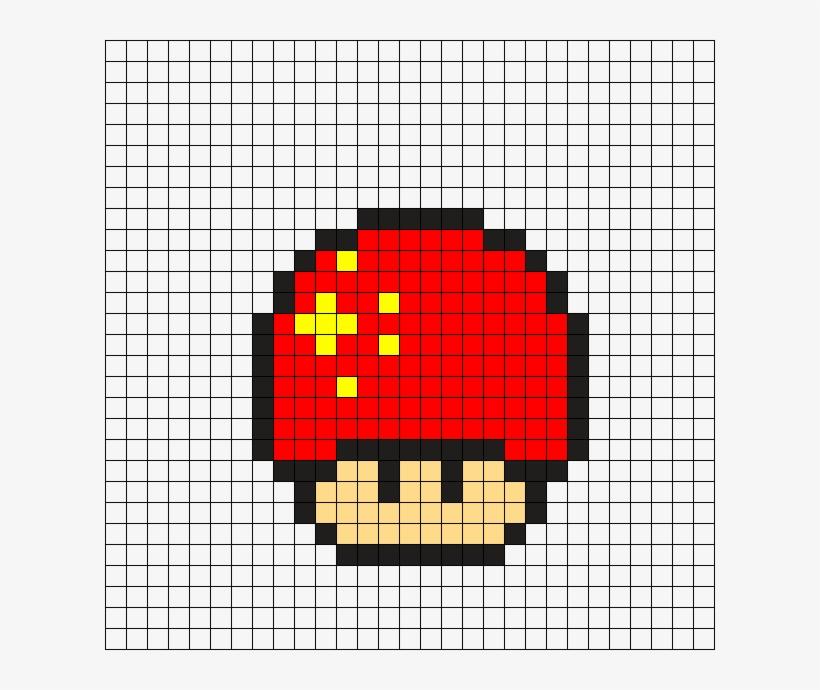 China Mushroom Perler Bead Pattern Png Mario Bros Pixel Png