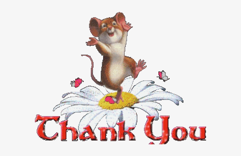 Thank You Clipart Animated Gif - Mice Are Nice (step Into