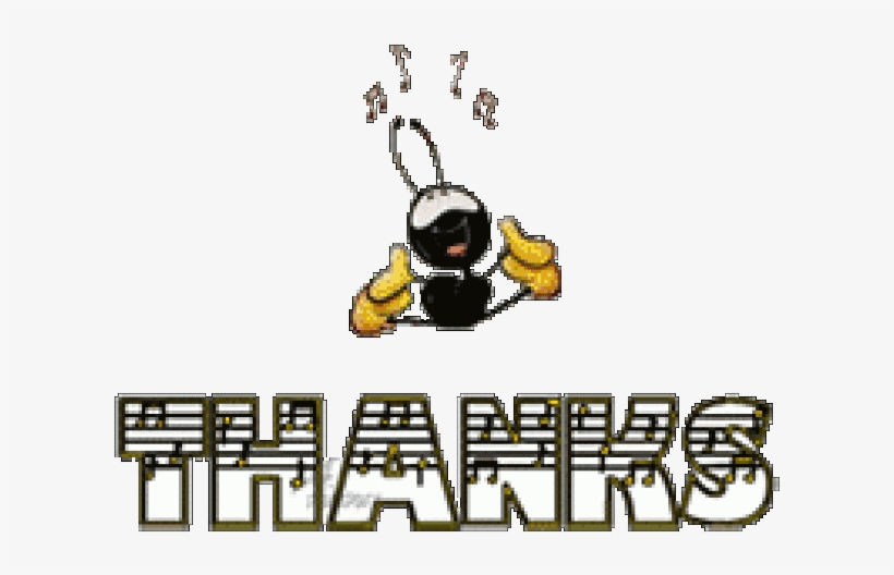 Thank You Clipart Animated Gif - Music Thank You Clip Art PNG Image