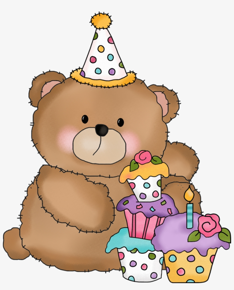 Bear birthday. Happy clip art png