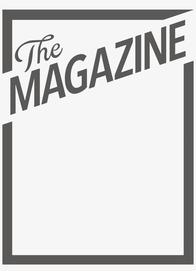 Blank magazine cover template on white background vector image.