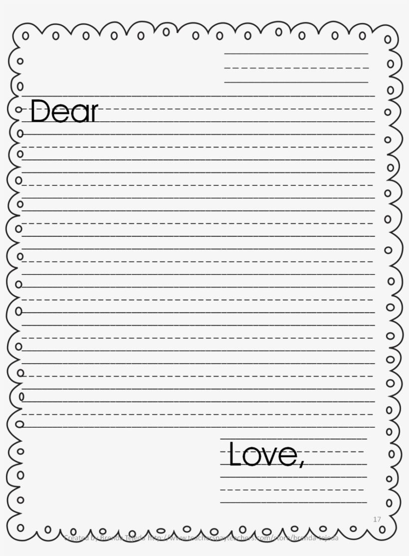Primary Letter Writing Paper Printable Lined Paper With Border