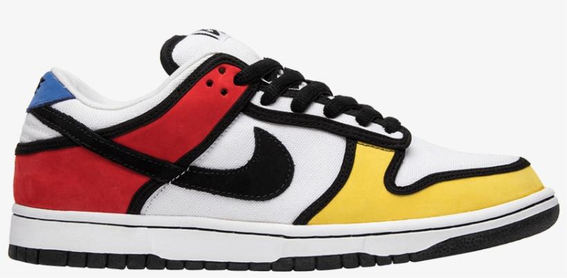 official photos ed913 2bba0 Nike Dunk Sb Low Piet Mondrian, transparent png download