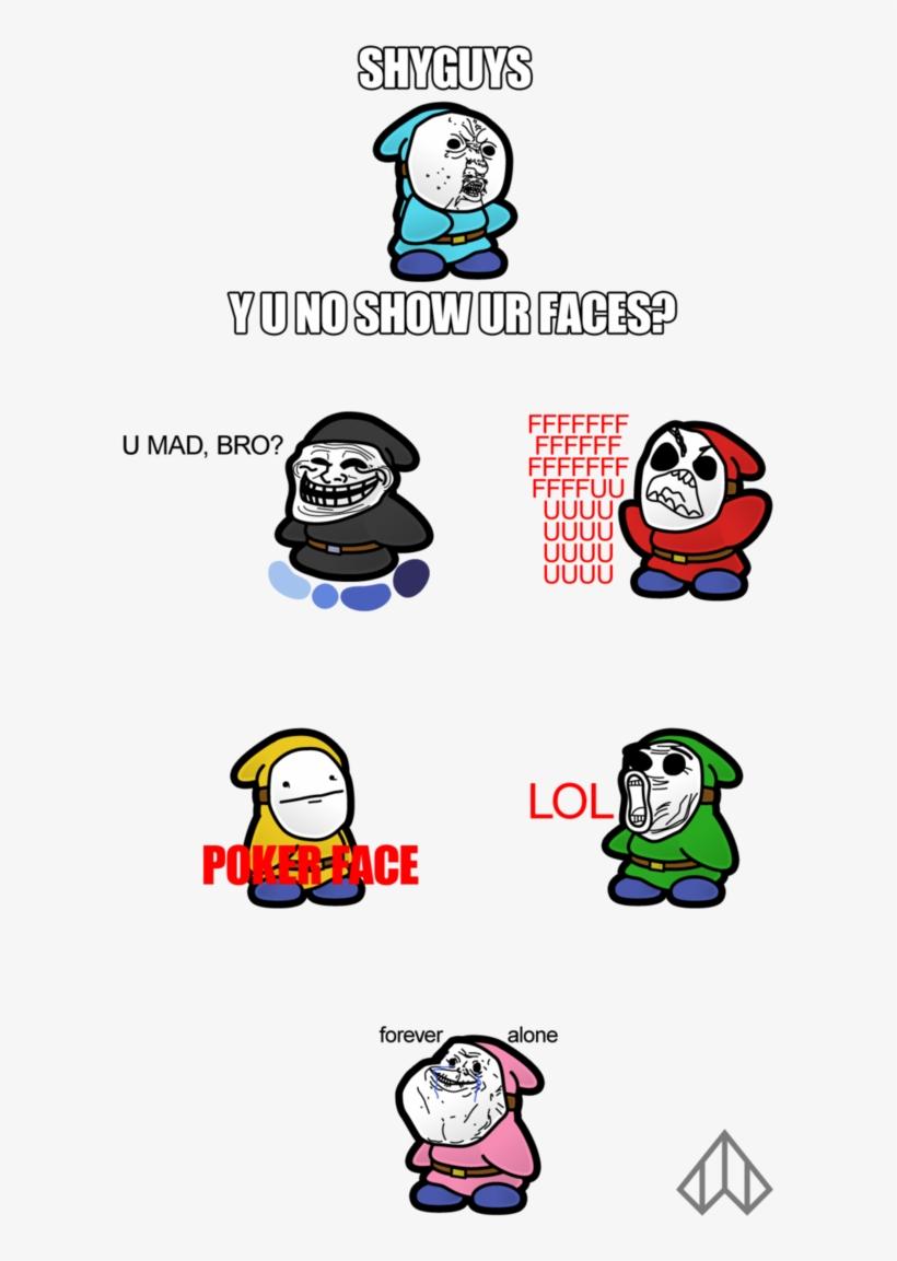 Meme Guys Shy Guy Comic Mario Png Image Transparent Png