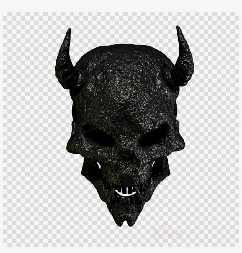 Skull Clipart Skull Head Demon - Iphone Heart Emoji Png PNG Image