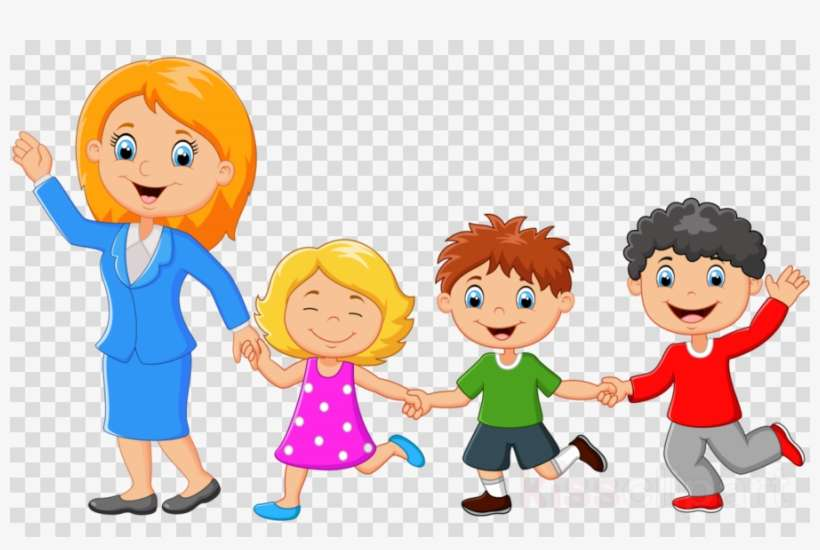 Download Single Mom Family Cartoon Clipart Single Parent Single Mom Family Cartoon Png Image Transparent Png Free Download On Seekpng