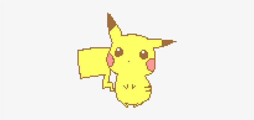 Kawaii Tumblr Art Pixel Art Kawaii Pikachu Png Image Transparent