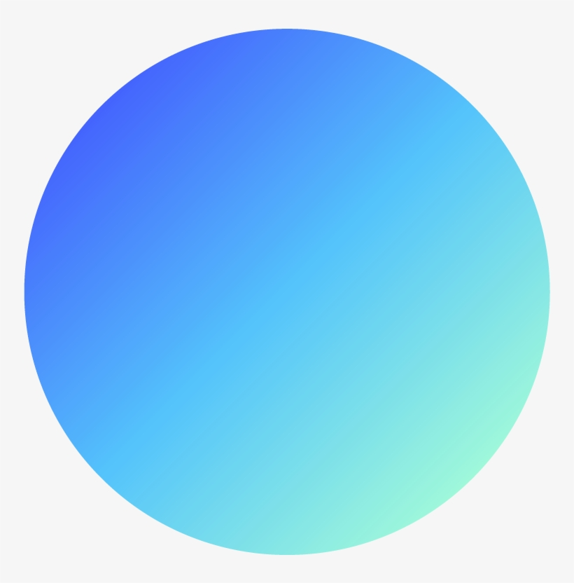 Gradient Circle Png - Blue Gradient Circle Png Transparent