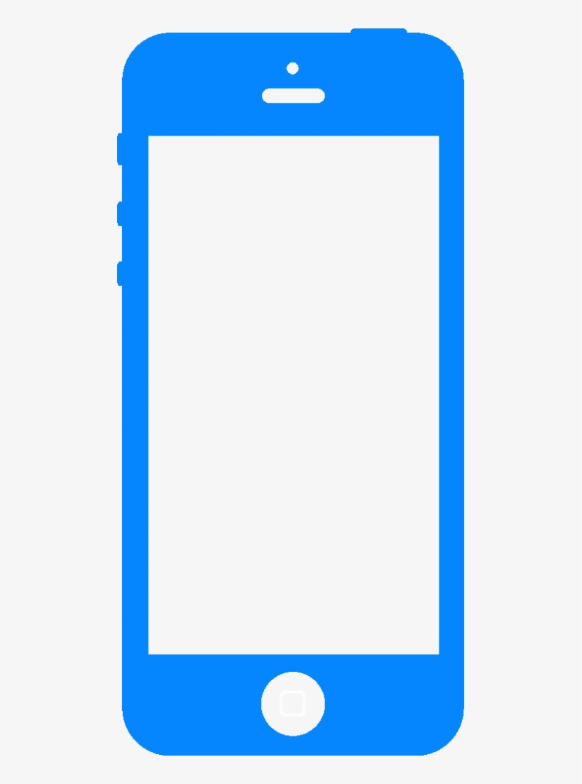 Icon Iphone Copy - Cell Phone Icon Blue PNG Image