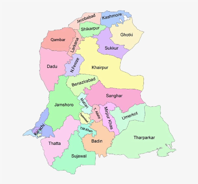 Na-221 Hyderabad Sindh Constituency Map Paki Mag - Sindh Map
