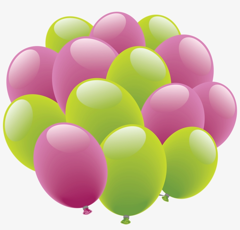 Free Clipart Birthday Balloon Happy Birthday Aka Pink Green Png Image Transparent Png Free Download On Seekpng