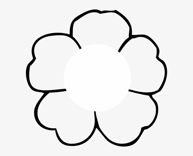 Flower black and white outline. Poppy to print clipart