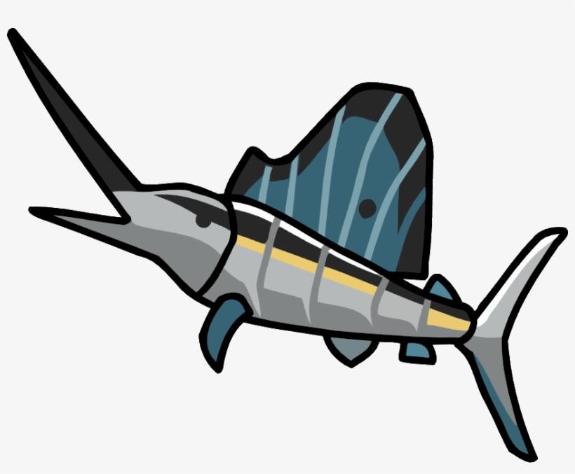 Sailfish - Scribblenauts Unlimited Fish PNG Image | Transparent PNG