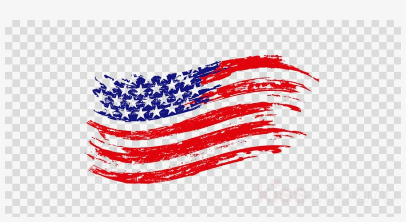 American Flag Vintage Vector Clipart United States